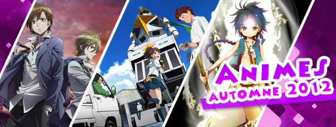 liste des animes de l'automne 2012 - passionjapan